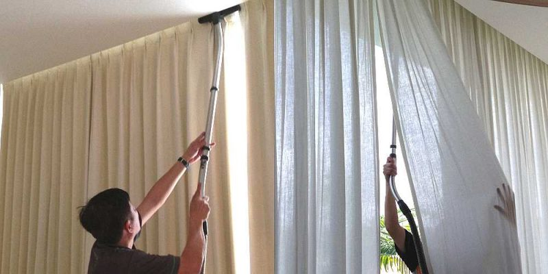 Химчистка штор с выездом без снятия – чистка на весу в москве