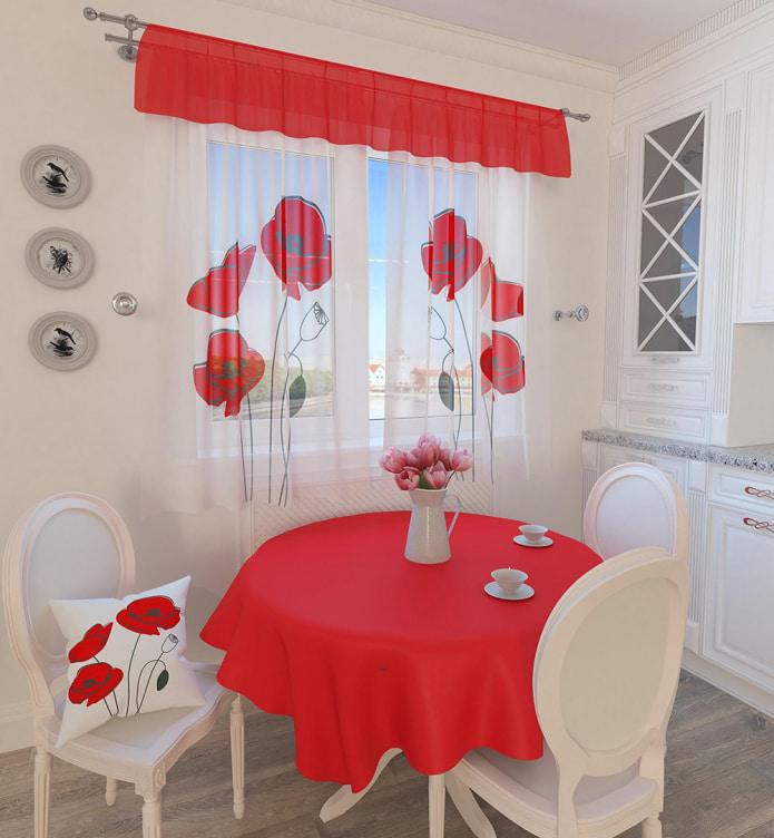 Как выбрать шторы к красным обоям - советы с фото дизайна