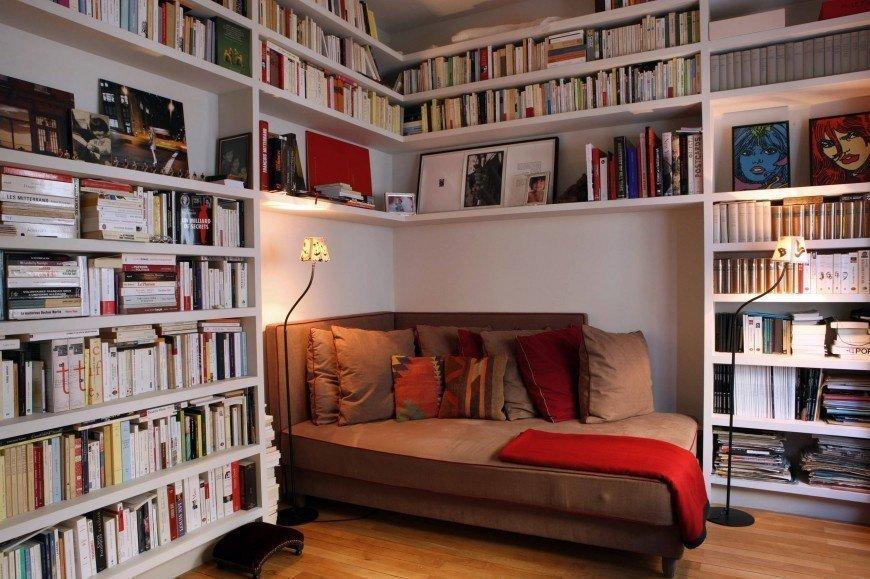 домашняя библиотека интерьер