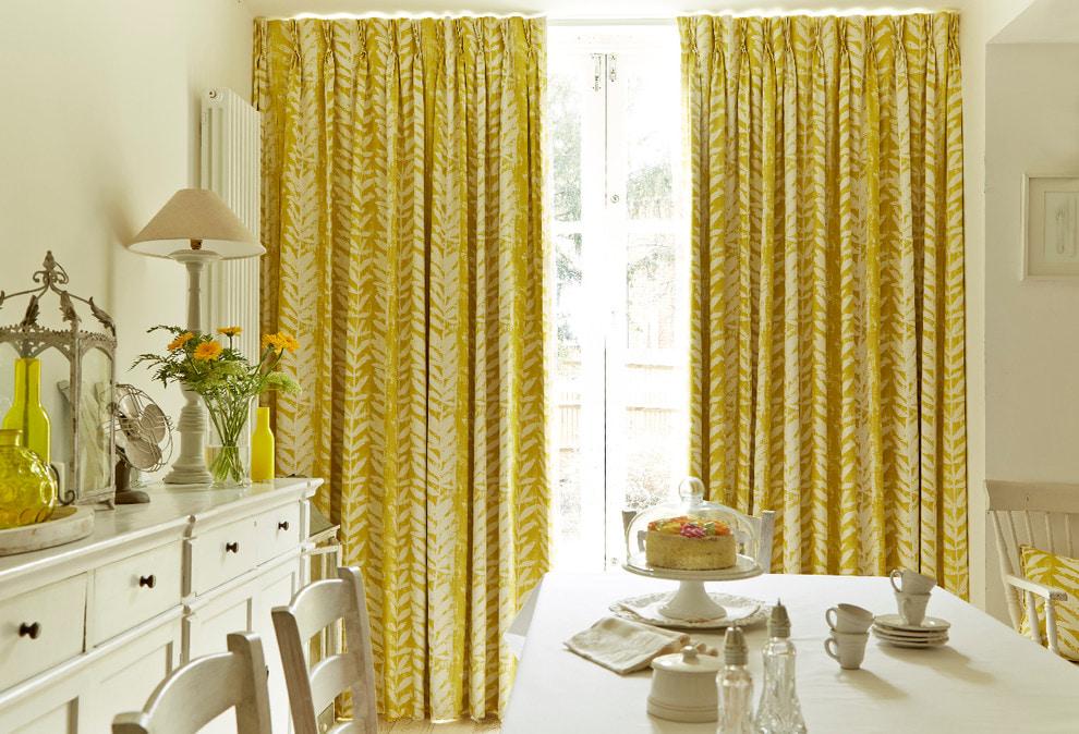 Желтые шторы 75 фото модных штор с желтым оттенком для стильного дизайна