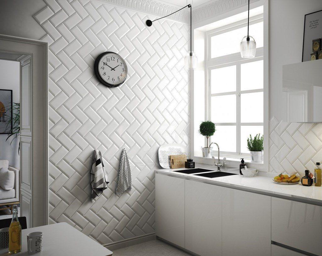 Плитка кабанчик в ванной: фото в интерьере