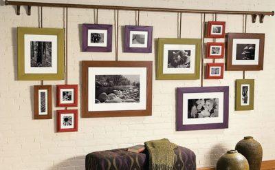 Как повесить картину на стену без сверления и гвоздей правильно