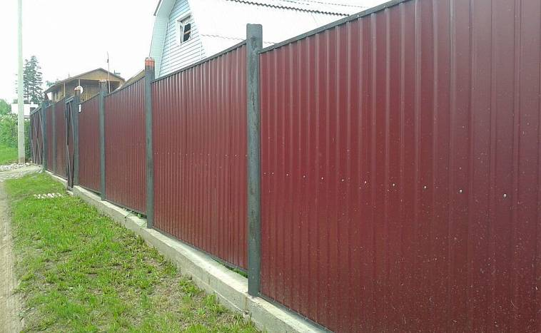 ленточный фундамент под забор из профнастила
