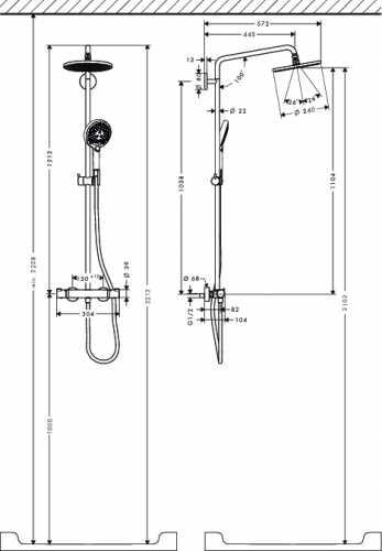 Высота смесителя в ванной: стандарт от пола, от ванны и на стене