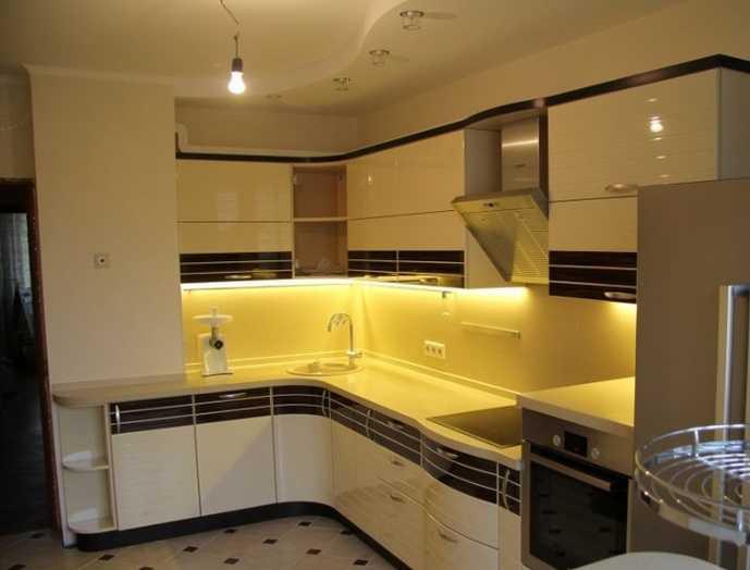 Светодиодная лента на кухню под шкафы: инструкция по установке