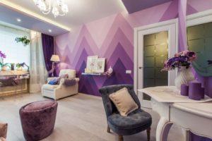 Обои фиолетового цвета: какие оттенки существуют, особенности фиолетового цвета, какие шторы подойдут
