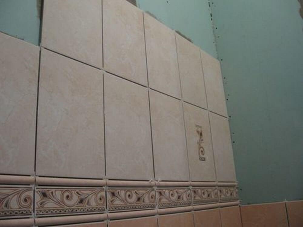 Гипсокартон для ванной комнаты под плитку