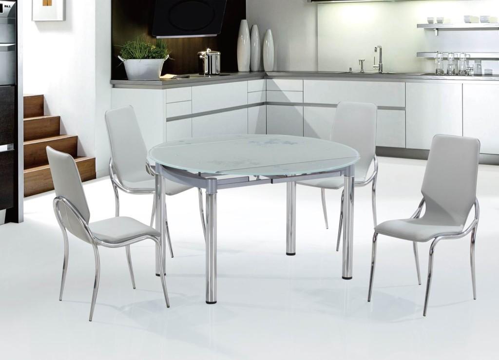 Круглый стол на кухню: 90+ реальных фото примеров