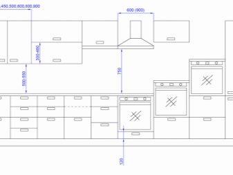 Размеры кухонных шкафов и их стандарт, габариты модулей и расположение