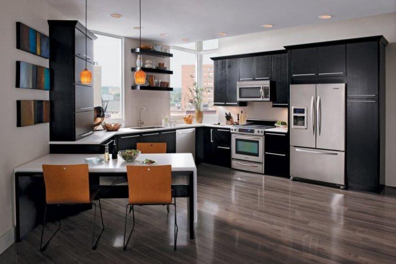 Кухонный гарнитур: проекты и реальные примеры интерьерного оформления с использованием кухонного гарнитура (185 фото)