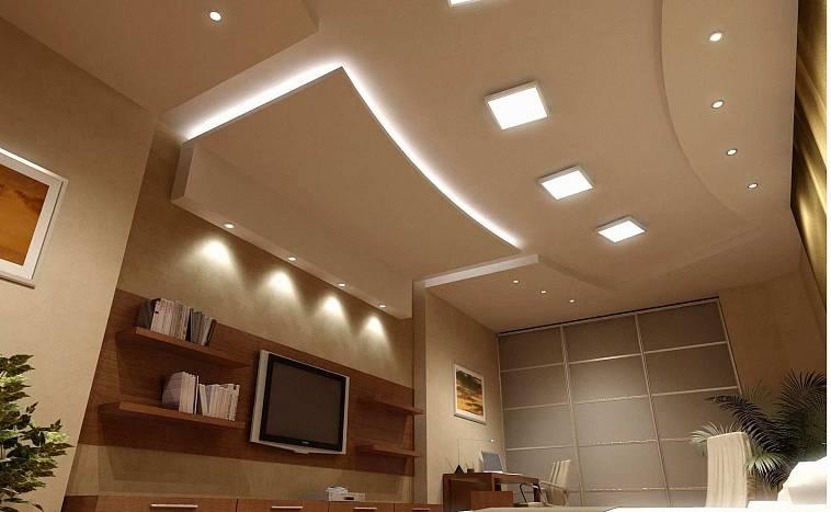 Гипсовые потолки (61 фото): дизайн двухуровневых конструкций с подсветкой, красивые панели на потолок, классические подвесные варианты