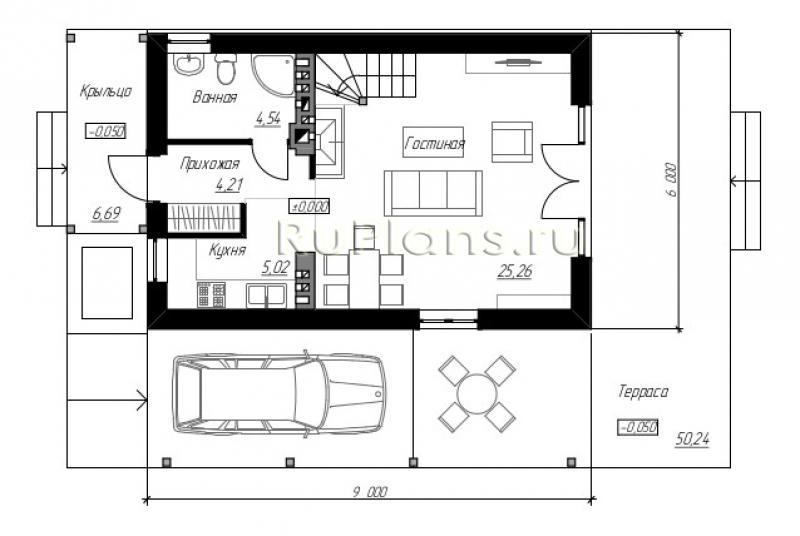 Дом 6 на 6: составление проекта, планировка одноэтажного и двухэтажного жилья для постоянного проживания