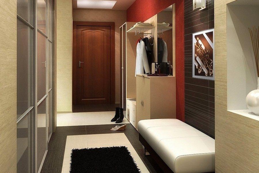 мебель в узкую прихожую в современном стиле