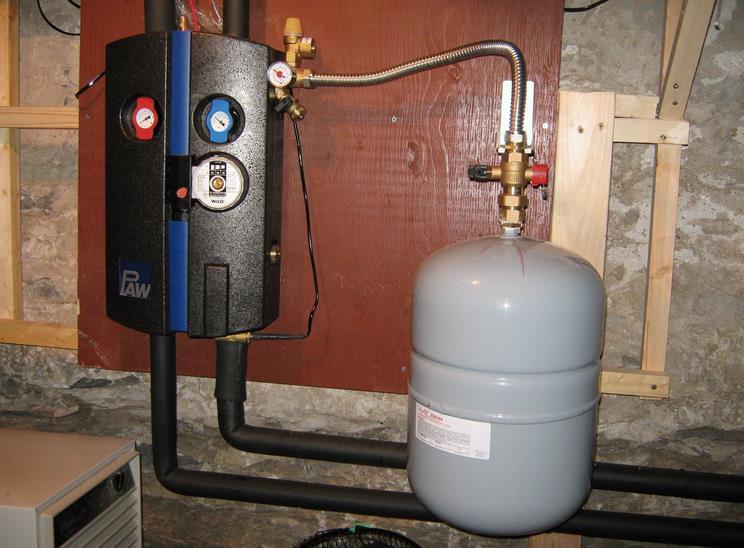 установка расширительного бачка в закрытой системе отопления