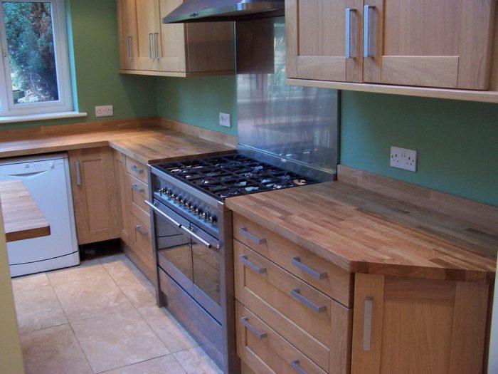 Чертеж кухонного гарнитура с размерами