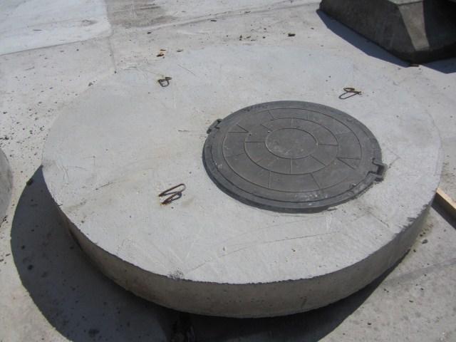 крышка колодезная бетонная