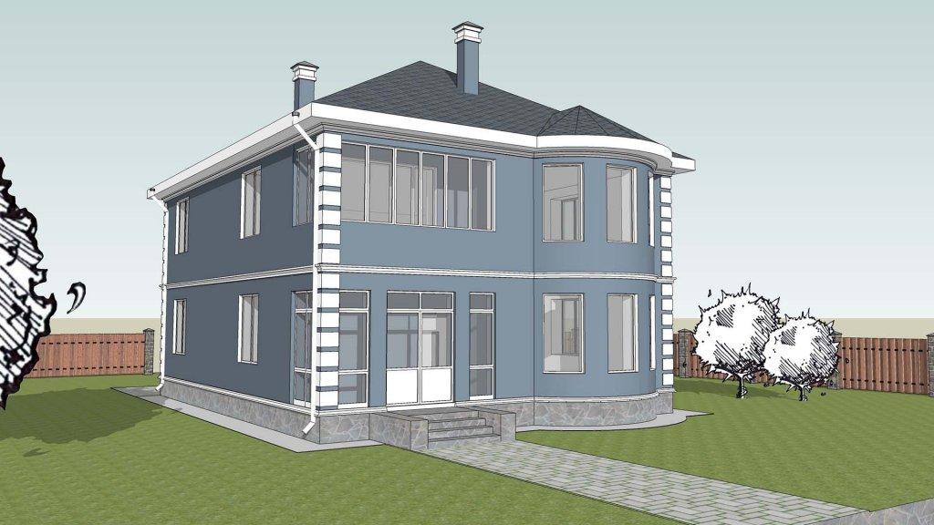 проект дома двухэтажный