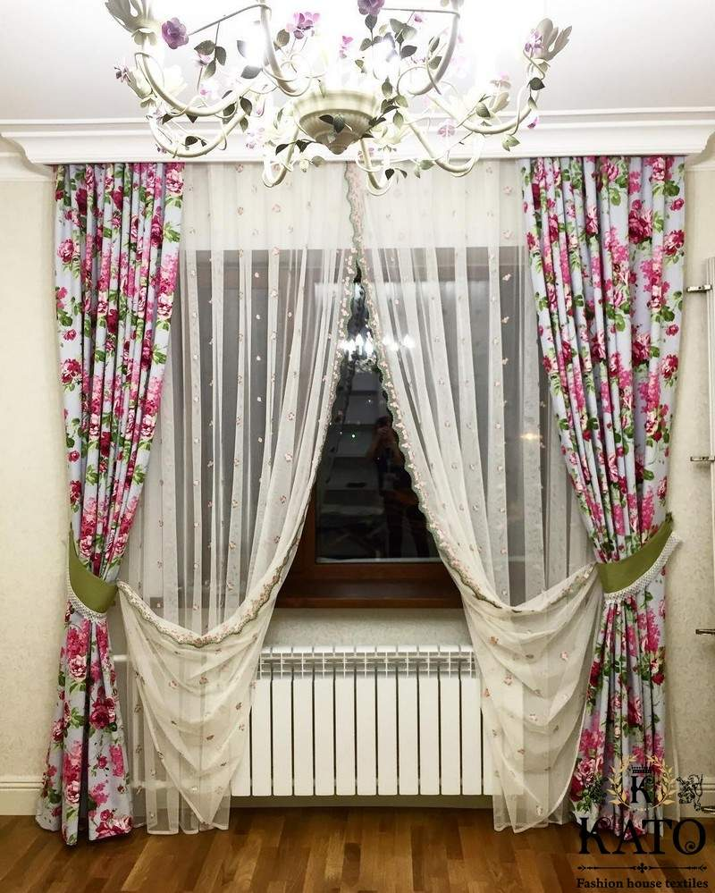 шторы в спальню прованс фото