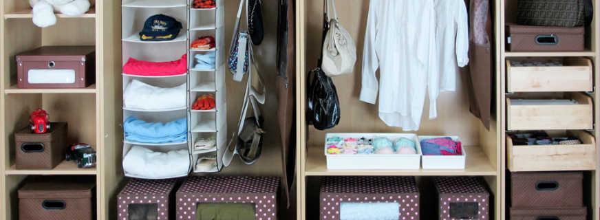 как аккуратно сложить вещи в шкафу