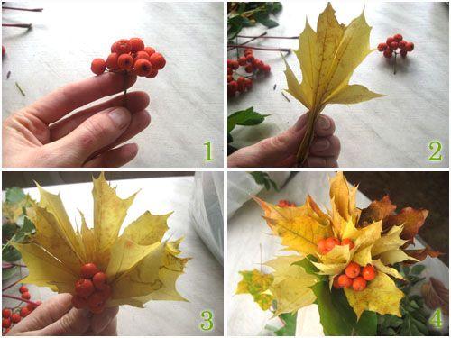 поделки из листьев 2 класс