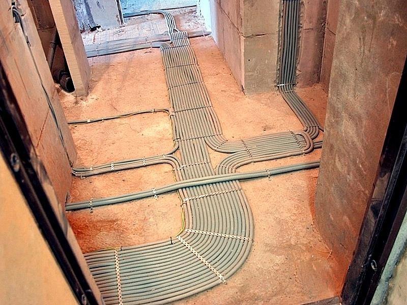 проводка по полу
