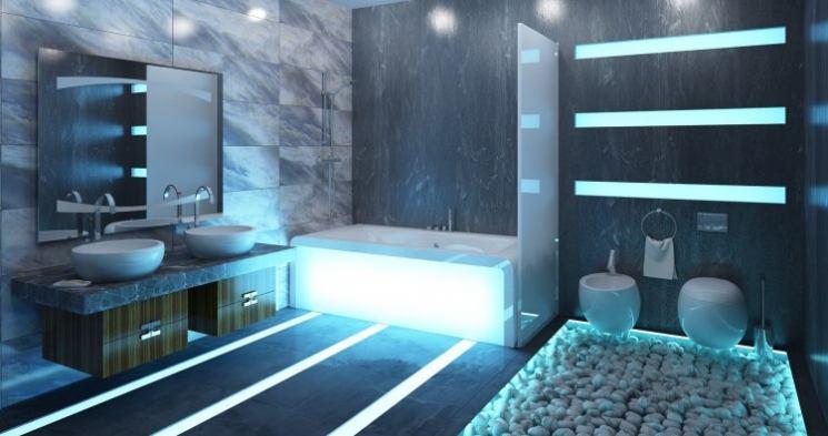Синяя ванная — 80 фото идей красивого дизайна, сочетания цвета и лучших вариантов оформления