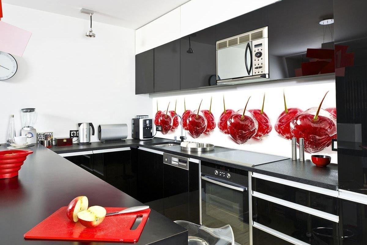 Фартук из стекла на кухню: как выбрать и закрепить, фото скинали, фотопечать