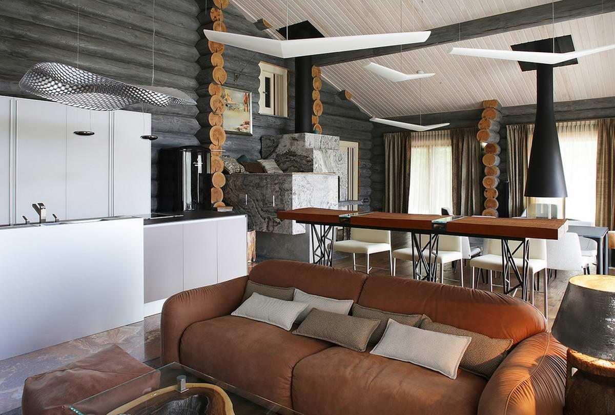 Внутренняя отделка деревянного дома +105 фото примеров интерьера