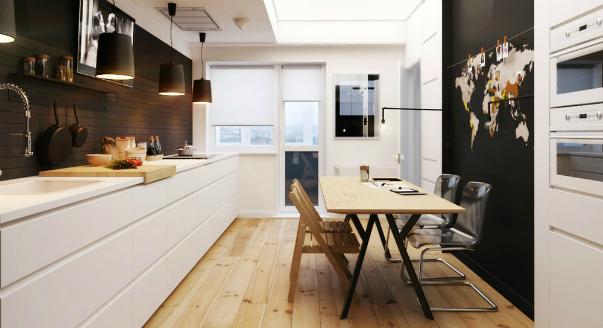 Интерьер трехкомнатной квартиры 50 кв. м – фото и визуализации от студии «а8»