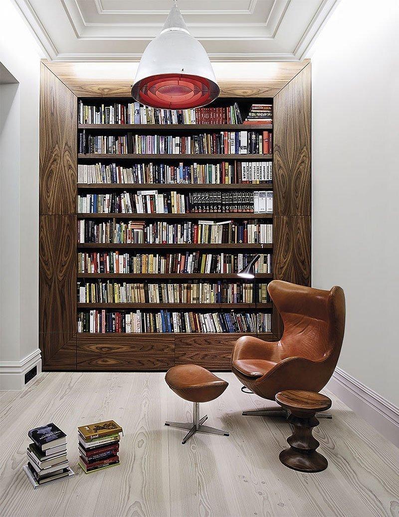 Интерьер домашней библиотеки: идеи хранения книжных коллекций