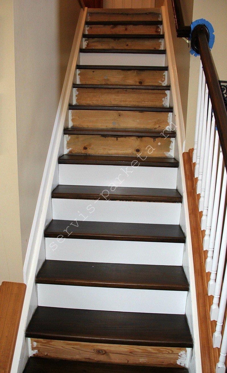 Чем покрасить лестницу из лиственницы внутри дома. покраска деревянной внутренней лестницы и уличной конструкции, выбор лакокрасочных материалов, подбор цвета ступеней и балясин