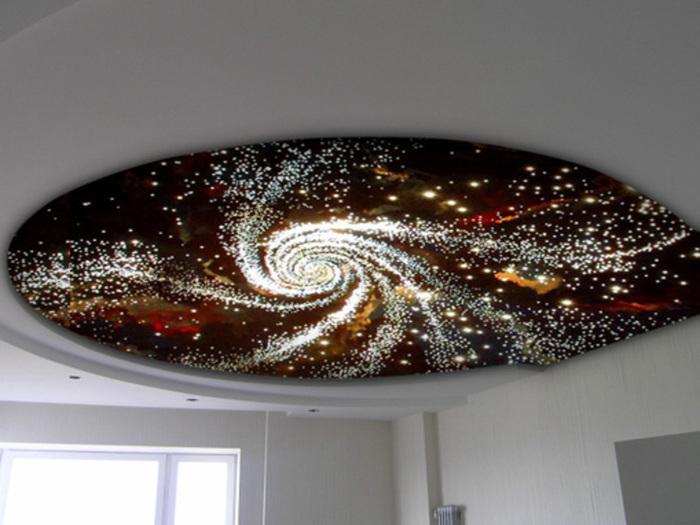 """Натяжной потолок """"звездное небо"""": как сделать дома своими руками"""