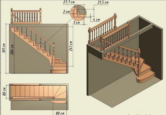Пошаговая инструкция по самостоятельному изготовлению деревянной лестницы