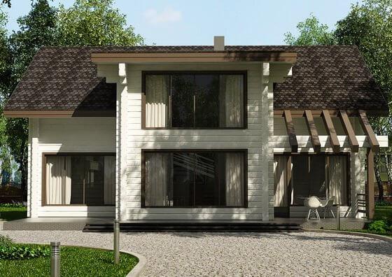 Интерьер деревянного дома из бруса внутри: фото, описание