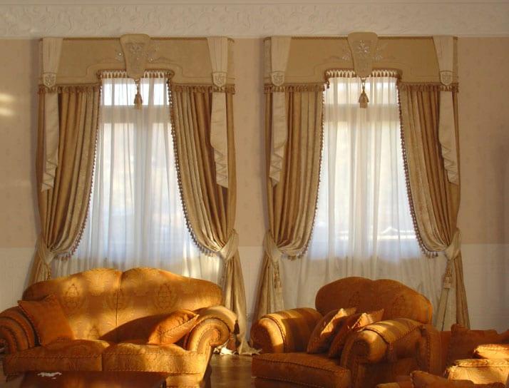 Как красиво оформить два окна с простенком