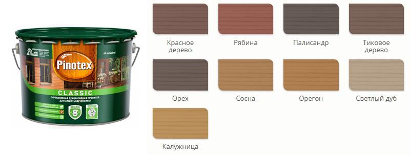 Pinotex interior (пинотекс интериор): палитра цветов, свойства, применение