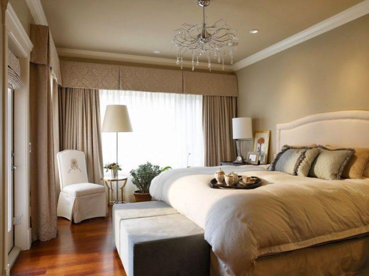 Люстра в спальне: многообразие моделей на 30 фото
