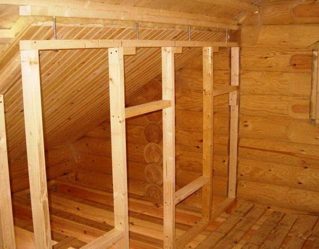 перегородки в деревянном доме