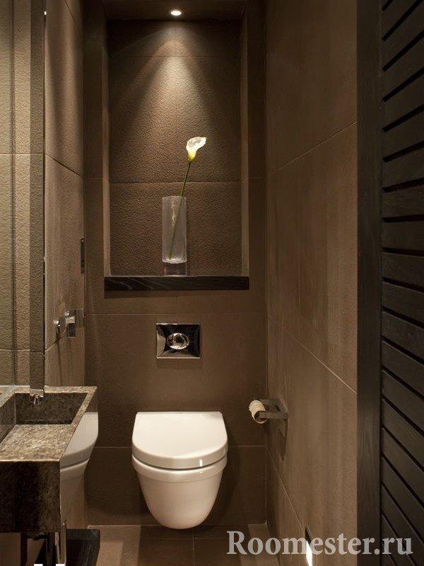 Отделка туалета: варианты оформления туалетной комнаты (фото)