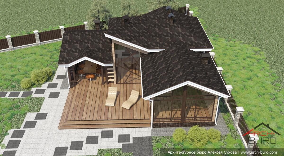 Проекты бань с террасой и барбекю (28 фото): зона отдыха 3 в 1