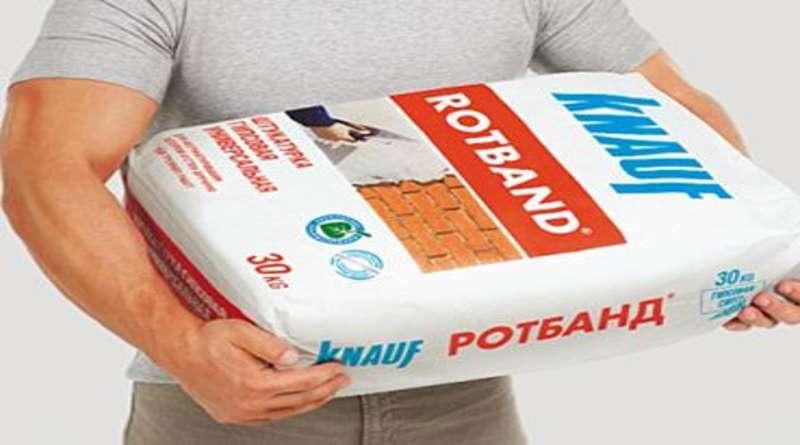 Штукатурка rotband: технические характеристики, гипсовая штукатурная смесь knauf объемом 30 кг