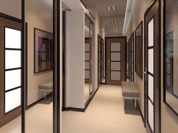 Прихожая для узкого коридора