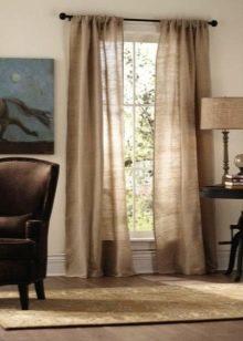 Льняные шторы: виды, особенности, как выбрать, правила ухода