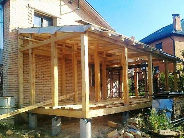Фундамент под веранду к дому