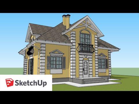 нарисовать необычный дом