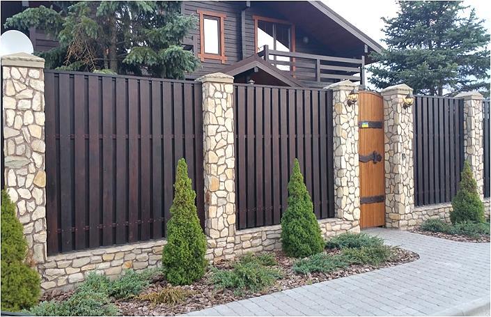 ворота и заборы для частного дома фото