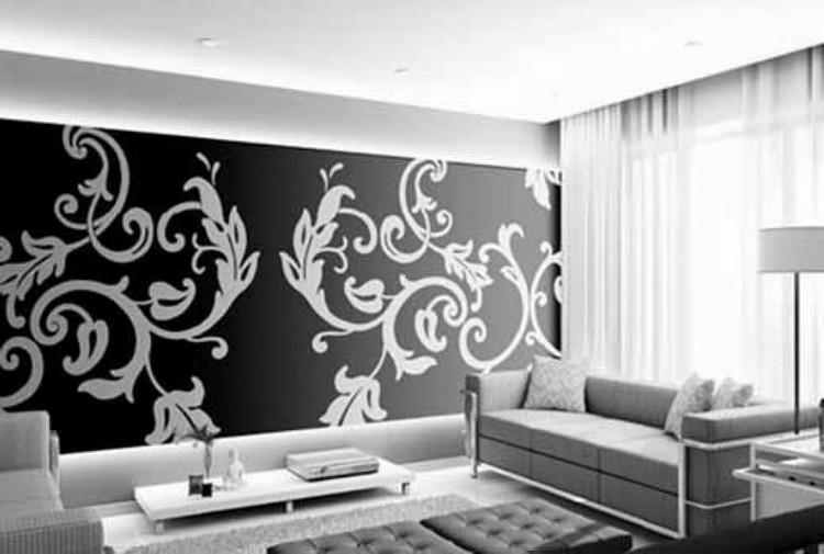 Обои черно-белые для стен в интерьере квартиры: где применяются темные обои с белыми цветами или светлые с точечными рисунками, советы и рекомендации по оформлению