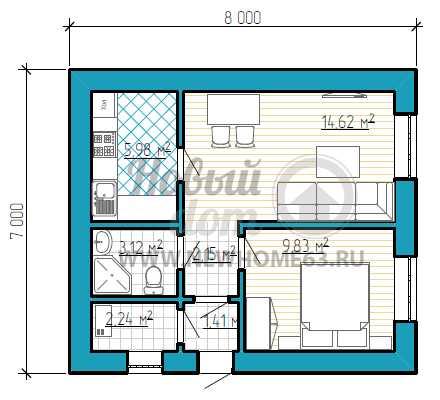 Планировка дома 7 на 7 - 115 фото лучших дизайнов и советы по их реализации