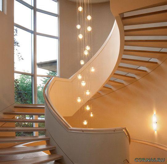Подсветка лестницы (60 фото): встраиваемые в стену светодиодные лестничные светильники, варианты для ступеней в доме