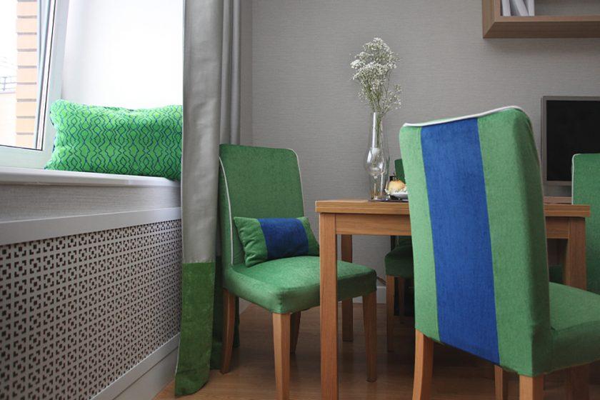 Чехлы для кухонных стульев: оригинальный текстиль на кухне (+49 фото)